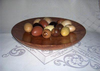 Kiaat Platter with Eggs