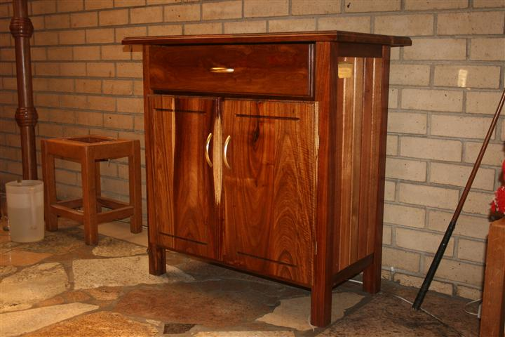 Credence table with built in cupboard