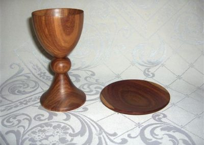Kiaat Chalice and Paten Mostly Ornamental