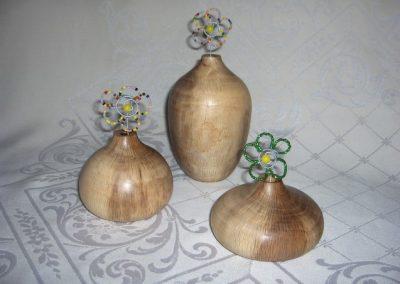 Oak dry flower vase set